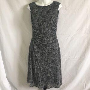 KENNETH COLE REACTION B&W PRINTED SHEATH DRESS